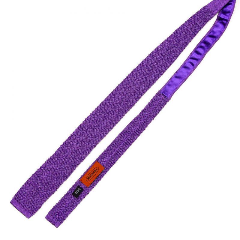 Вязаный галстук Missoni фиолетового цвета