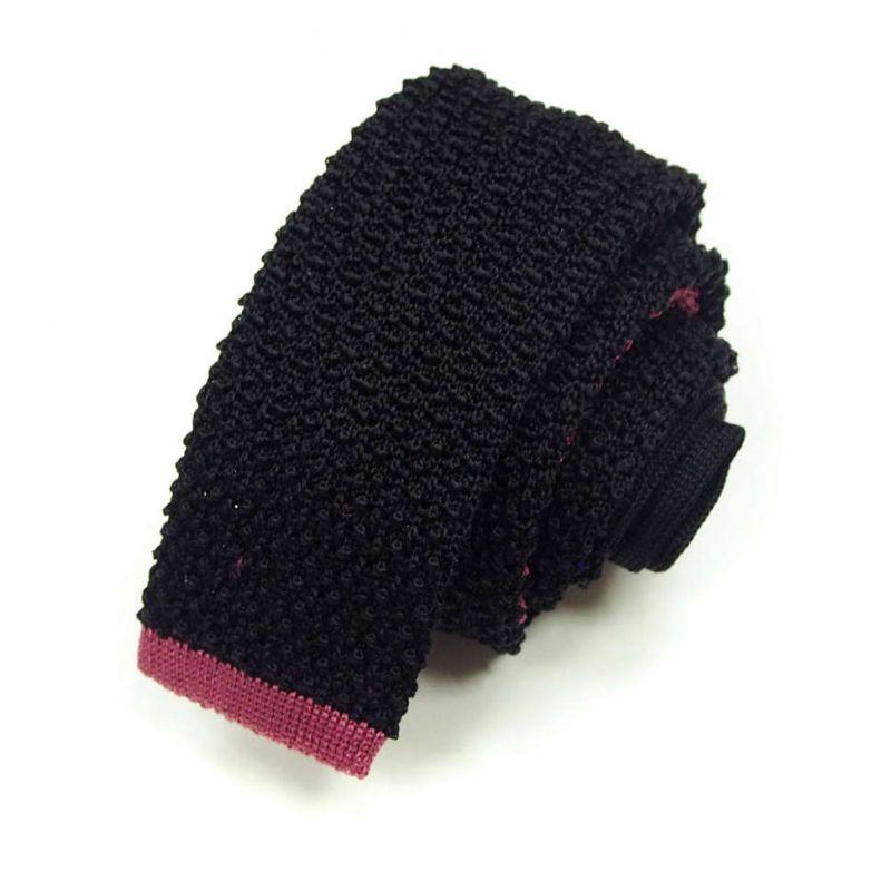 Вязаный галстук Missoni чёрного цвета