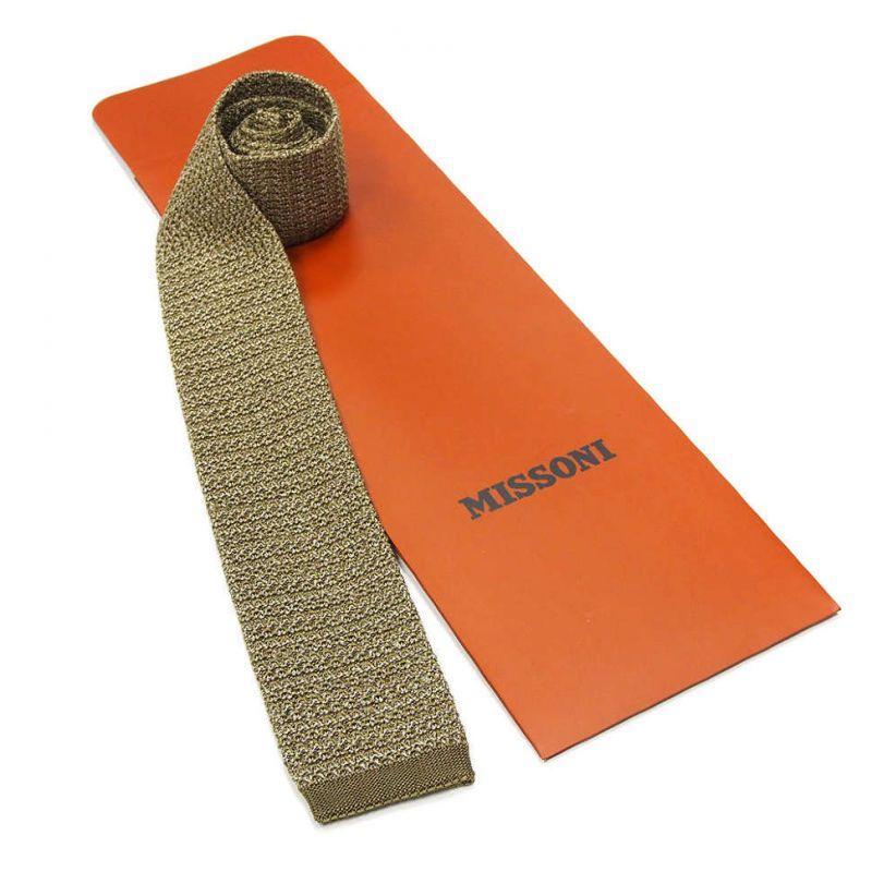 Вязаный галстук Missoni оливкового цвета