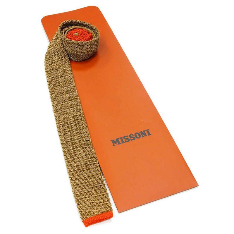 Вязаный галстук Missoni горчичного цвета