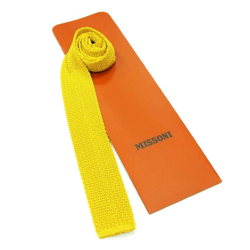 Вязаный галстук Missoni жёлтого цвета