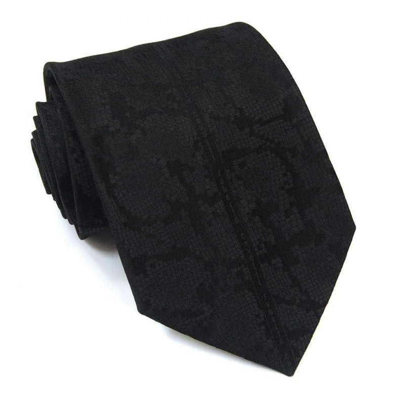Чёрный галстук Roberto Cavalli выделка - питон