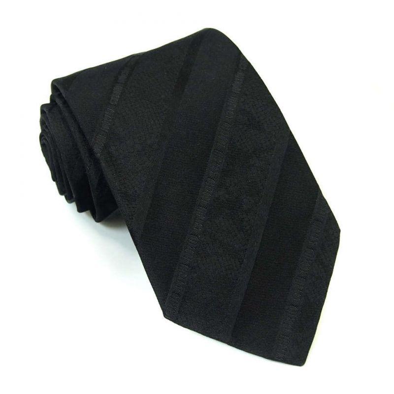 Чёрный однотонный галстук Roberto Cavalli