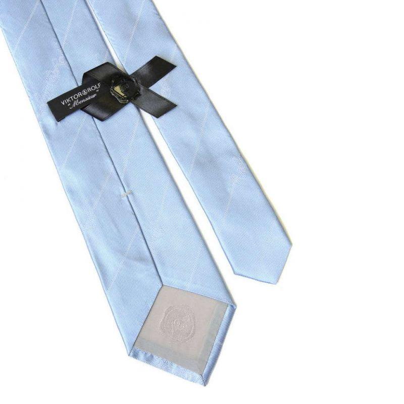 Голубой галстук Viktor Rolf с выделкой ткани