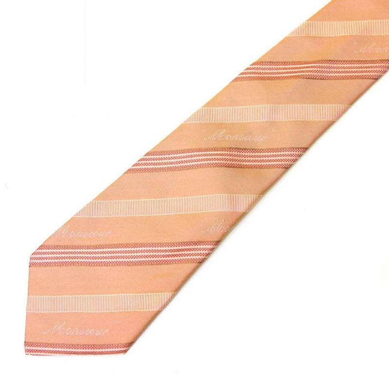 Оранжевый галстук Viktor Rolf в полоску