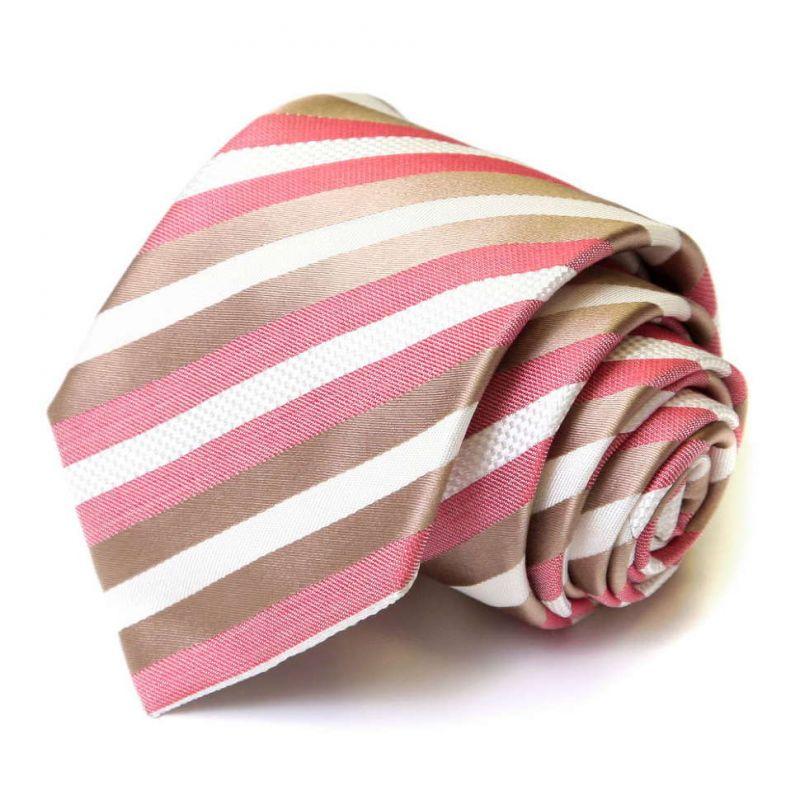 Розовый галстук Viktor Rolf в полоску