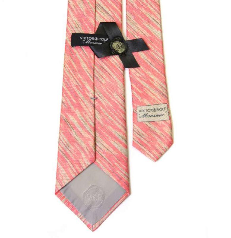 Коралловый галстук Viktor Rolf с полосатым узором