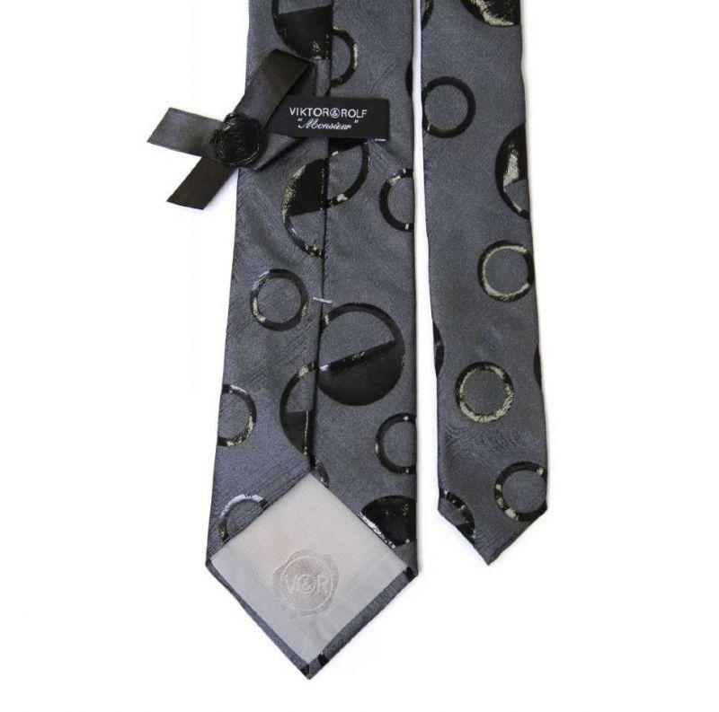 Серый галстук Viktor Rolf с фактурными кругами