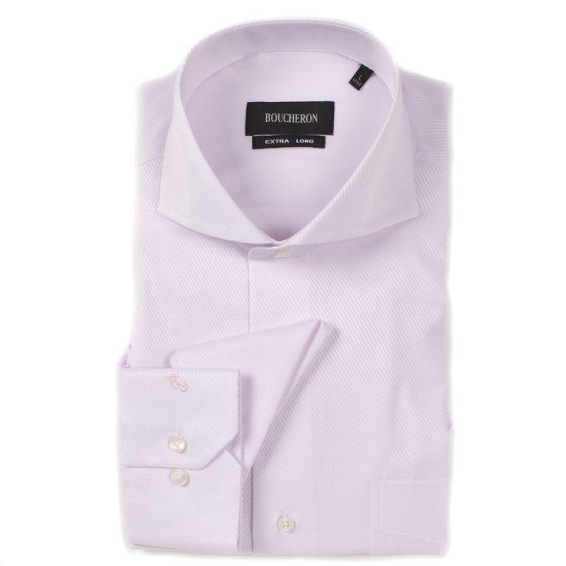 Рубашка розовая однотонная неприталенная удлинённая