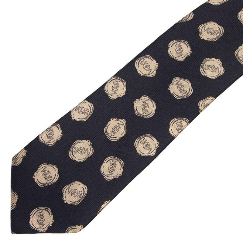 Чёрный галстук с логотипами Viktor Rolf