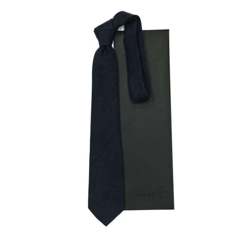 Чёрный галстук Gianfranco Ferre рисунок ёлочка