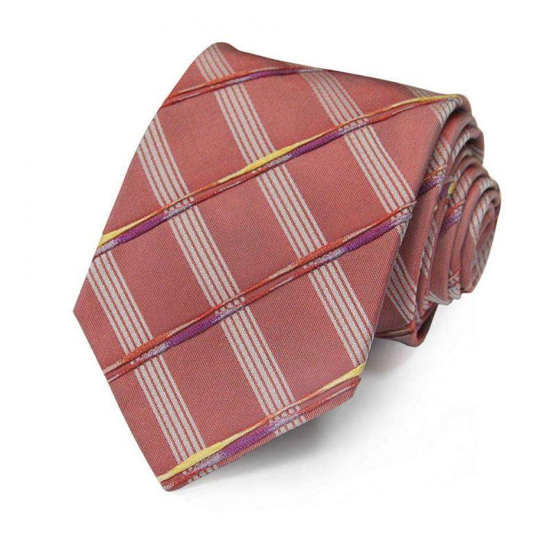 Красный галстук Gianfranco Ferre с вышитыми линиями