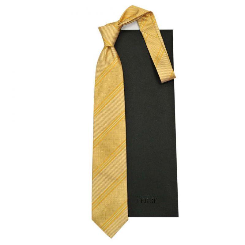 Жёлтый галстук Gianfranco Ferre в полоску