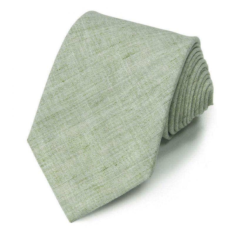 Светло-зелёный однотонный галстук Gianfranco Ferre