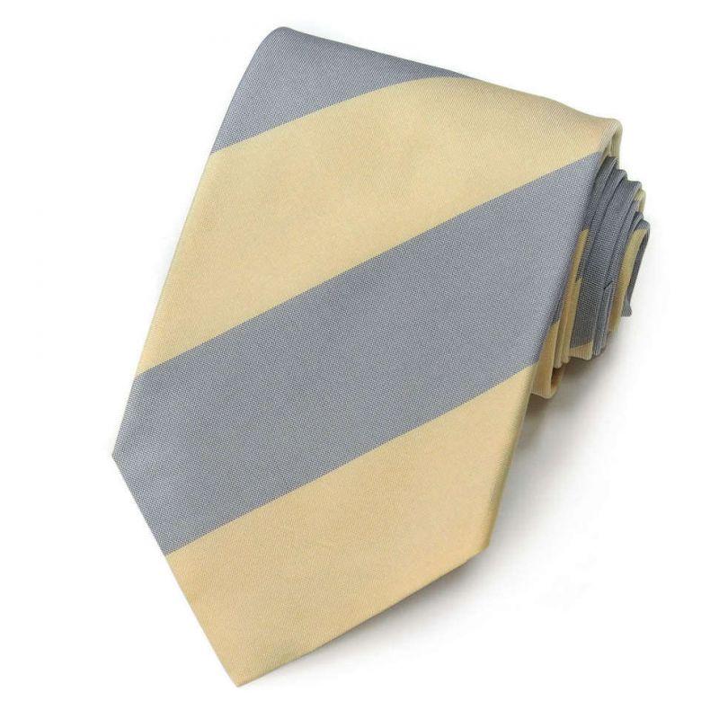 Серо-жёлтый галстук Gianfranco Ferre в полоску