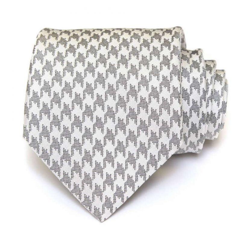 Серый галстук Gianfranco Ferre с графическим принтом