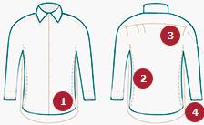 Особенности кроя приталенных рубашек