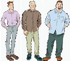 Мужские сорочки на стандартный рост