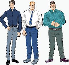Мужские сорочки на высокий рост