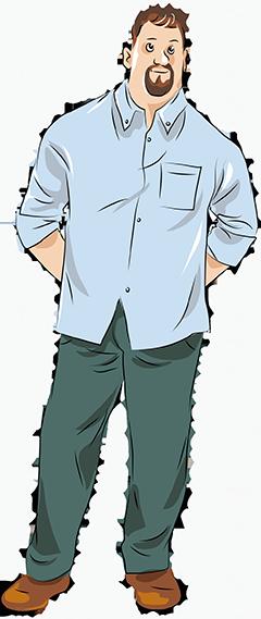 Неприталенные мужские сорочки с длинными рукавами