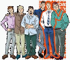 Полуприталенные мужские рубашки на высокий рост