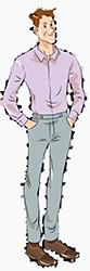Рубашки Slim Fit кроя на стандартный рост