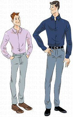 Приталенные мужские сорочки