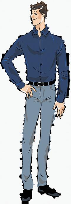 Рубашки на высоких и стройных мужчин