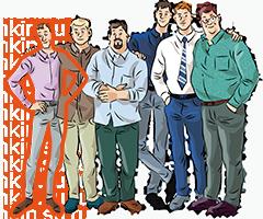 Мужские рубашки Slim Fit на стандартный рост