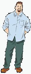 Рубашки свободного кроя на стандартный рост