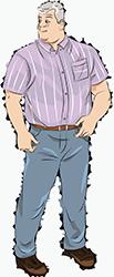 Неприталенная рубашка с короткими рукавами