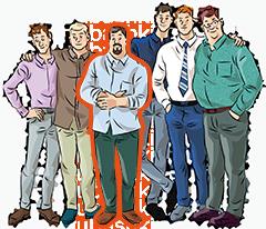 Неприталенные мужские рубашки на страндартный рост