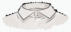 Французский воротник мужской рубашки