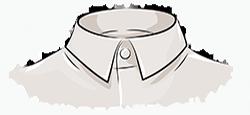 Классический воротник мужской рубашки